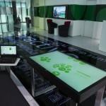 Réalisation finie - vue sur table interactive EPFL/EcalLab